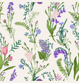 seamless botanical pattern floral background vector image vector image