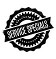 service specials rubber stamp vector image