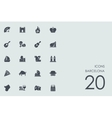 Set of Barcelona icons vector image vector image