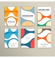 Set of covers with abstract figures vector image