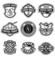 set of vintage coffee shop emblems design vector image