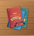 stack books books standing vertical isolated vector image vector image