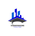 student housing vector image vector image