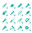 stylized construction and building tools icons vector image