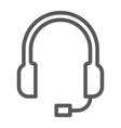 support line icon helpline and operator headset vector image
