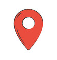 symbol ubication to explore map location vector image vector image