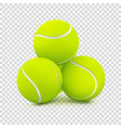 tennis balls on transparent background vector image