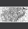 turin italy city map in retro style outline map vector image vector image