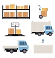 Warehouse Icons Flat vector image vector image