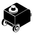 welding machine icon simple black style vector image vector image