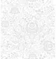 White and grey seamless pattern in Russian style vector image vector image