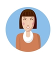 Woman avatar icon cartoon style vector image