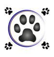 paw print dog vector image