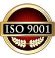 iso 9001 icon vector image