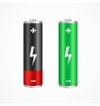 Charging Concept Full and Low Battery vector image