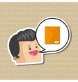 Communication design Social media icon mail vector image