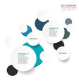 abstract element infographics 2 option design for vector image
