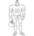 american football player line art vector image vector image
