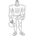 american football player line art vector image
