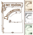 Art nouveau decoration frame vector image