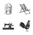 atelier travel and other monochrome icon in vector image vector image