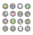 baand kids accessorises icons set vector image vector image