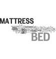 bed mattress text word cloud concept