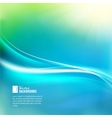 Blue sky with glowing rays and lines vector image vector image