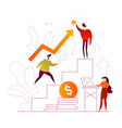 business growth - flat design style colorful vector image vector image