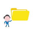 businessman character walking and holding open vector image