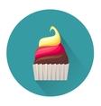 Cartoon dessert cake icon vector image vector image