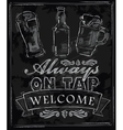 chalk beer vector image vector image