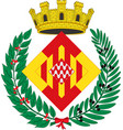 coat of arms of girona is a province of spain vector image vector image