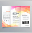 colorful abstract trifold brochure design template vector image vector image