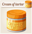 cream of tartar detailed icon vector image