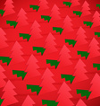 Creative Christmas tree formed from cut out paper vector image