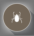 dust mite sign white icon on vector image vector image