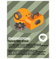 engineering color isometric poster vector image vector image
