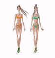 fashion-summer-swim vector image vector image