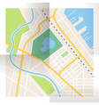 folded paper city map top view vector image