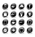 food and kitchen simply icons vector image vector image
