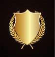golden shield retro design vector image vector image