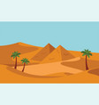 group people with camels caravan riding in vector image