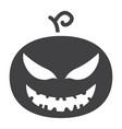 halloween pumpkin glyph icon halloween and scary vector image vector image