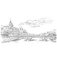 hand drawing paris 5 vector image vector image