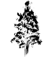 Hand drawn textured firtree vector image