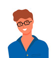 handsome man in glasses isolated worker character vector image vector image
