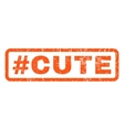 Hashtag Cute Rubber Stamp vector image vector image