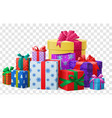 holiday present boxes vector image