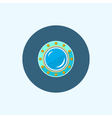 Icon with colored porthole vector image vector image